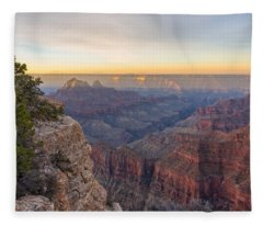 North Rim Sunrise 3 - Grand Canyon National Park - Arizona Fleece Blanket