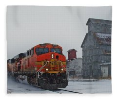 Northbound Winter Coal Drag Fleece Blanket