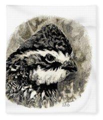 Northern Bobwhite Fleece Blanket