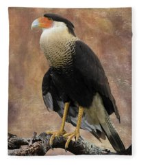 Northern Crested Caracara At Sunset Fleece Blanket