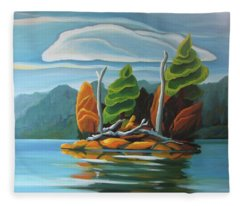 Northern Island Fleece Blanket