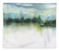Northern Lake Fleece Blanket