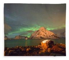 Spectacular Night In Lofoten 3 Fleece Blanket