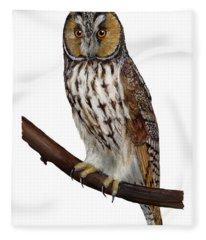 Northern Long-eared Owl Asio Otus - Hibou Moyen-duc - Buho Chico - Hornuggla - Nationalpark Eifel Fleece Blanket