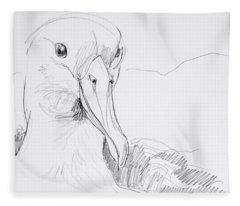 Northern Royal Albatross Fleece Blanket