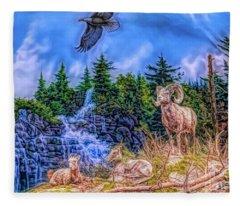Northern Wilderness Fleece Blanket