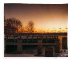 Northport Sunset Fleece Blanket