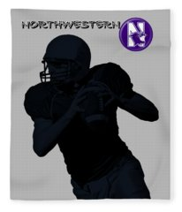 Northwestern Football Fleece Blanket