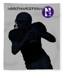 Northwestern Football Fleece Blanket