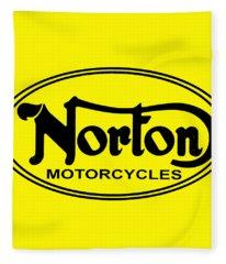 Norton Motorcycles Fleece Blanket