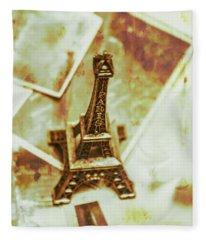 Nostalgic Mementos Of A Paris Trip Fleece Blanket