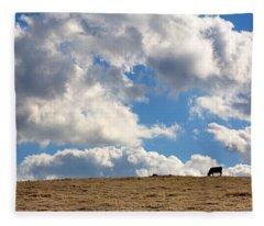 Not A Cow In The Sky Fleece Blanket
