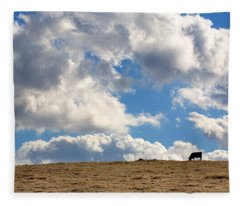 Not A Cow In The Sky Fleece Blanket