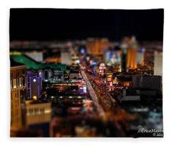 Not Everything Stays In Vegas - Tiltshift Fleece Blanket