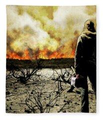 Nothing Left To Burn Fleece Blanket