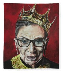 Notorious Rbg Fleece Blanket
