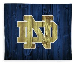 Notre Dame Barn Door Fleece Blanket