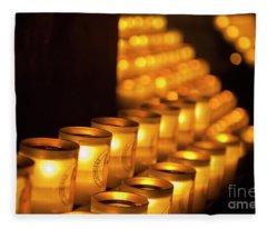 Notre Dame Candles Fleece Blanket
