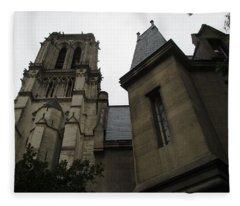 Notre Dame Paris Southwest Fleece Blanket