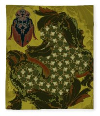 Nouveau Water Beetle Fleece Blanket
