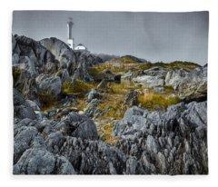 Nova Scotia's Rocky Shore Fleece Blanket