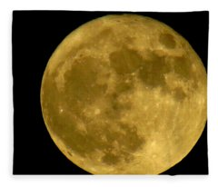 November Full Moon Fleece Blanket