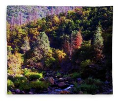 November On The Merced River Fleece Blanket