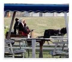 November Pony Cart Fun Fleece Blanket