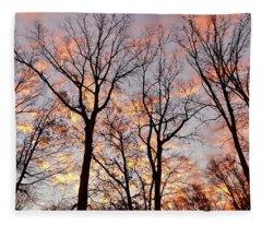 November Sunrise Fleece Blanket