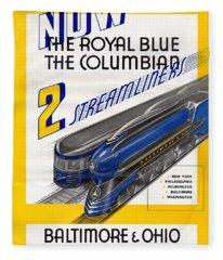 Now The Royal Blue The Columbian Fleece Blanket