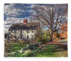 Noyes House In Autumn Fleece Blanket