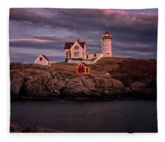 Nubble Light II Fleece Blanket
