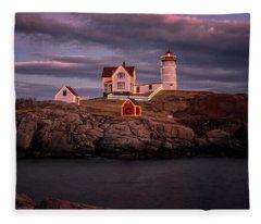 Nubble Light II Fleece Blanket