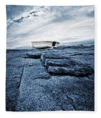 Nubble Light Rowboat Fleece Blanket