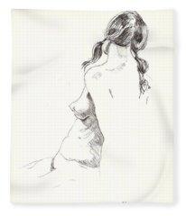 Nude 9 Fleece Blanket