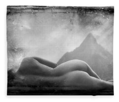 Nude At Chinaman's Hat, Pali, Hawaii Fleece Blanket
