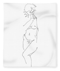 Nude Female Drawings 18 Fleece Blanket