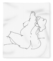 Nude-female-drawings-20 Fleece Blanket