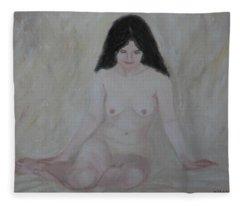 Nude Study Part 1 Fleece Blanket
