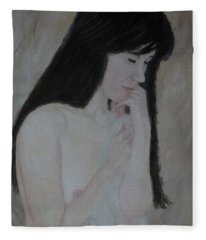 Nude Study Part 3 Fleece Blanket