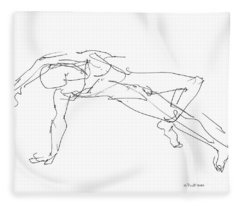 Nude_male_drawings_23 Fleece Blanket