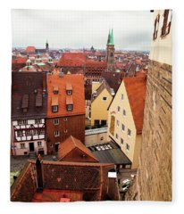 Nuremberg Cityscape Fleece Blanket