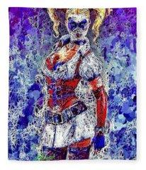 Nurse Harley Quinn Fleece Blanket
