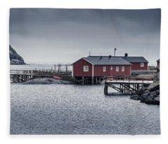 Nusfjord Rorbu Fleece Blanket