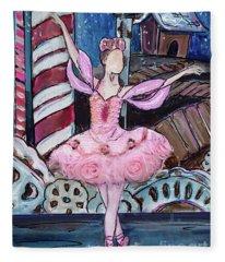 Nutcracker Sugar Plum Fairy Fleece Blanket