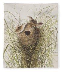 Nuttall's Lesser-marsh Wren  Fleece Blanket