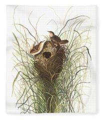 Nuttals Lesser-marsh Wren Fleece Blanket