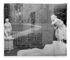 Nyc Whispering Statues Fleece Blanket