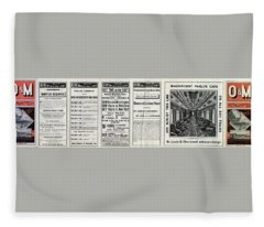 O And M Timetable Fleece Blanket