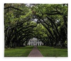 Oak Alley Plantation, Vacherie, Louisiana Fleece Blanket